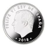 España - 30 euros 2018 - Felipe VI Rey de España - Plata Coloreada