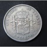 España - 5 Pesetas 1882 - Alfonso XII