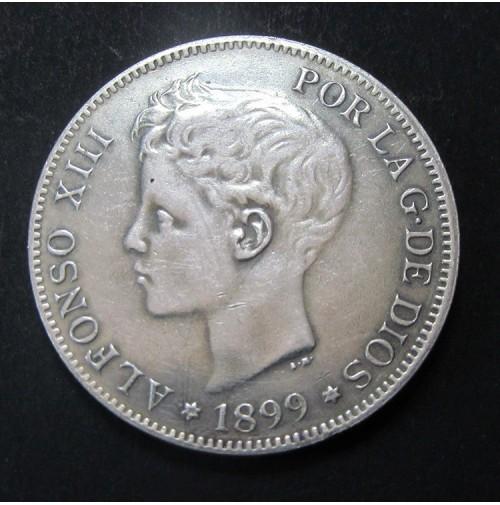 España - 5 Pesetas 1899 - Alfonso XIII *18 *99