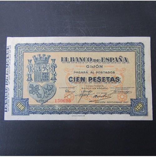 España - 100 Pesetas  1937 de Gijón