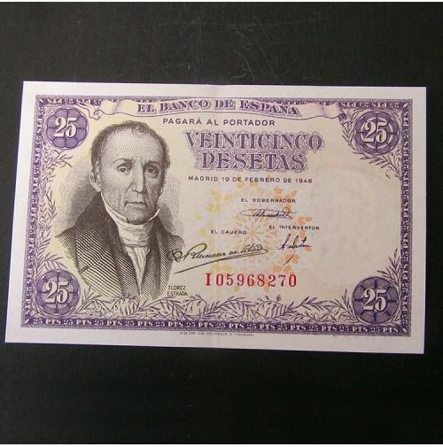 España - 25 Pesetas 1946 - Álvaro Flórez Estrada
