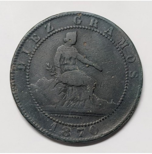 España - 10 Céntimos 1870 Gobierno Provisional