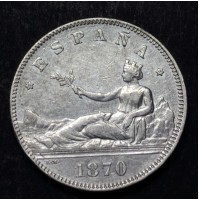 España - 2 Pesetas 1870 *18 *74 - Gobierno Provisional