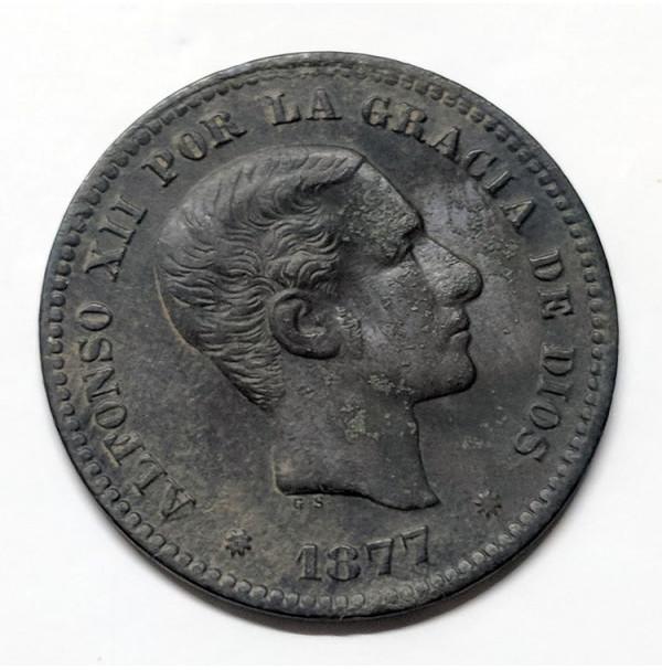 España - 5 Céntimos 1877 Alfonso XII