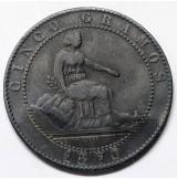 España - Lote de 3 monedas de 5 Céntimos de 1870