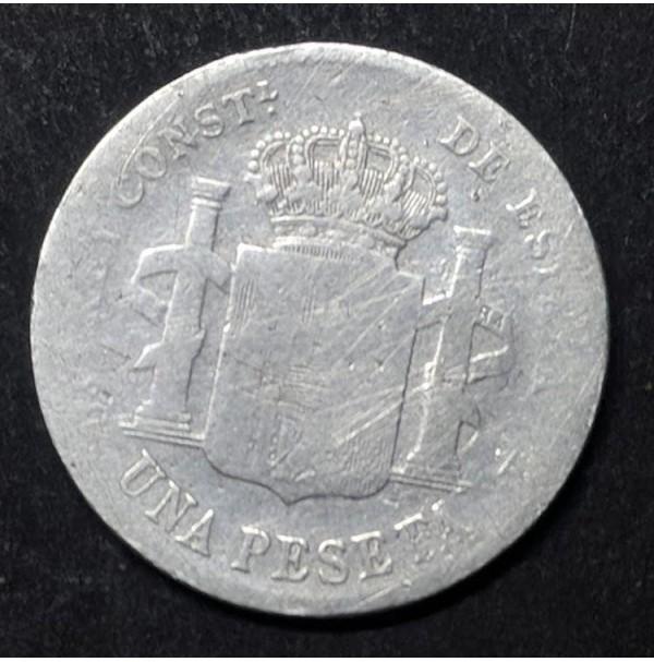 España - 1 Peseta de 1896 de Plata de Alfonso XIII