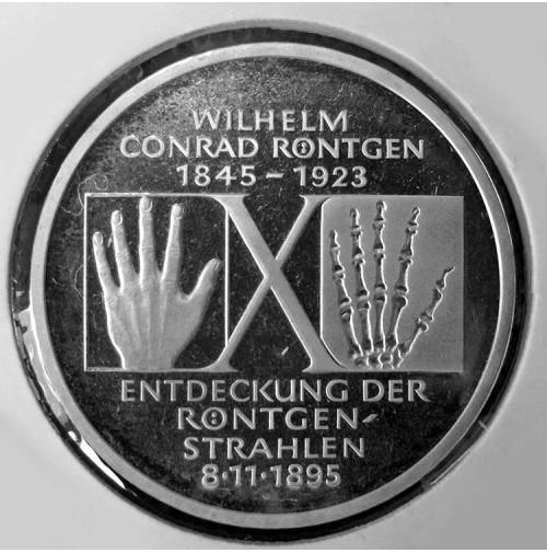 Alemania - 10 Marcos de 1995 de Plata