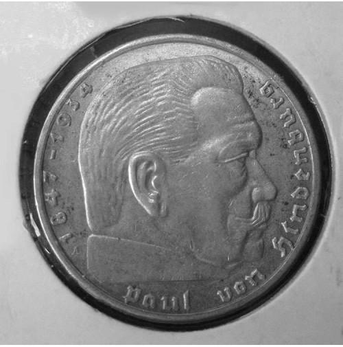 Alemania - 2 marcos de 1939 A - Plata