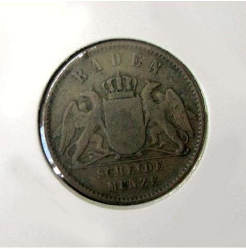 Alemania (Estados Alemanes) - Baden- 1 Kreuzer 1864