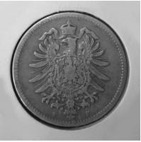 Alemania (Imperio Alemán) - 1 Marco de plata de 1875 F