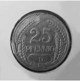 Alemania (Imperio Alemán) - 25 Peniques de 1909 D