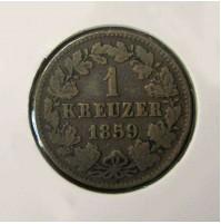 Alemania (Estados Alemanes) - Nassau - 1 Kreuzer 1859