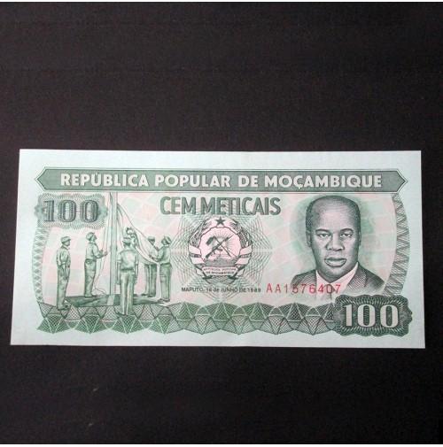 Mozambique - 100 Meticais de 1989 Sin Circular