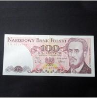 Polonia - 100 Zlotych de 1988 Sin Circular