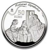 España - 50 euros de Plata de la Serie Pintores Españoles 2008: Velázquez - PROOF de la FNMT