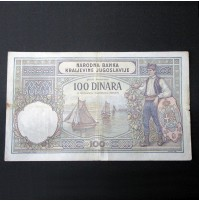 Yugoslavia - Pareja de Billetes de 100 Dinara de 1929