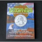 """Estados Unidos (EE.UU.) - Álbum para monedas """"Quarters"""" de los parques nacionales 2010-2021"""
