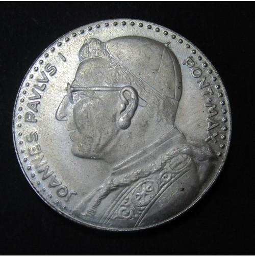 Medalla de plata Juan Pablo I - Vaticano - Italia
