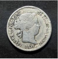 España - 2 Reales de 1857 - Isabel II de Plata