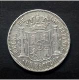 España - 1 Escudo 1867 Isabel II de Plata