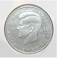 Niue - 50 Dólares de plata de 1988 (Kennedy)