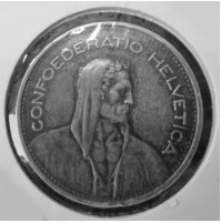 Suiza - 5 Francos de plata de 1953