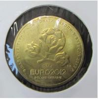 Ucrania - 1 Grivna de 2012 - Copa de Europa de Fútbol