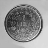 Vaticano - 1 Lira de 1866 R - Papa Pio IX