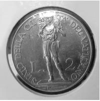 Vaticano - 2 Liras de 1936
