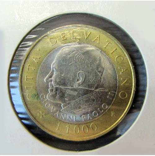 Vaticano - 1000 Liras de 2001 Bimetálica