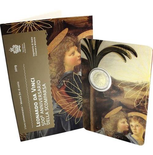 San Marino - 2 Euros conmemorativos 2019 Leonardo Da Vinci