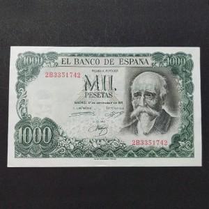 España - 1000 Pesetas 1971 - José Echegaray