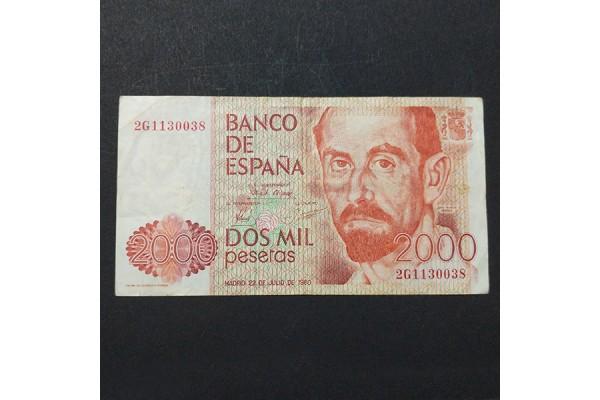 España - Billete de 2000 pesetas de 1980