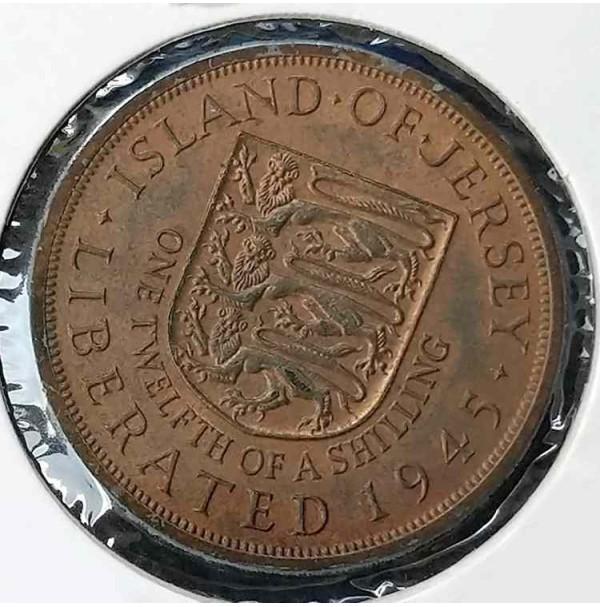 Jersey 1/12 shilling, 1945