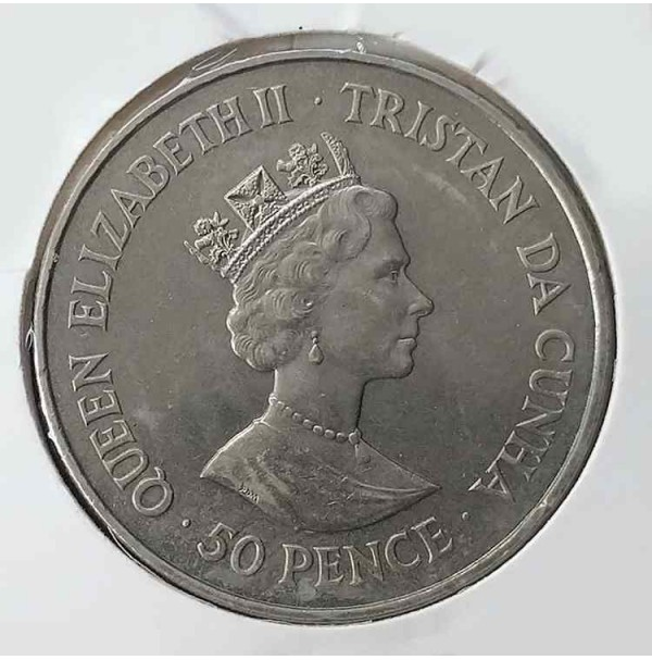 Tristán de Acuña - 50 peniques de 1987