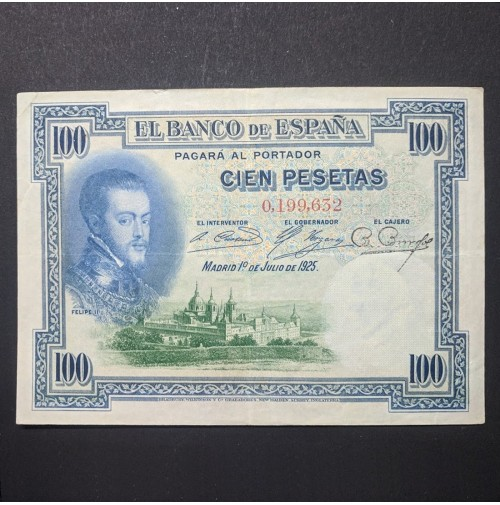Billete de España - 100 pesetas de 1925 Serie Sin Serie