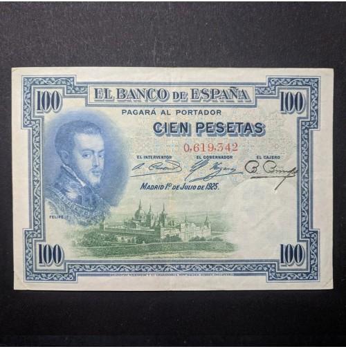 España - Billete de 100 pesetas de 1925 Serie Sin Serie