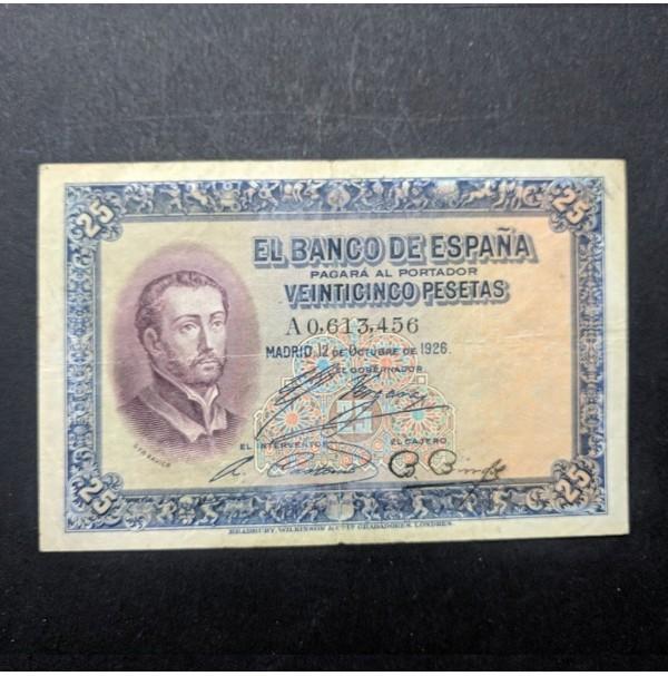 España - 25 Pesetas 1926 S. Fr. Xavier
