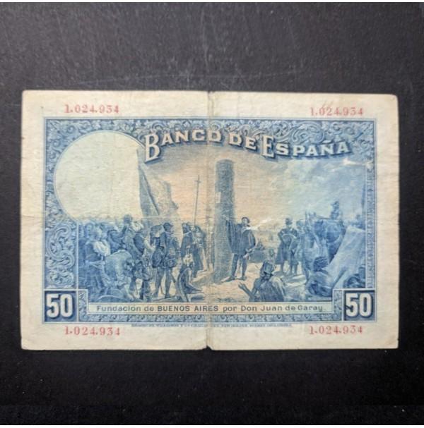 España - 50 Pesetas 1927