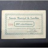 España - Lote de billetes locales de Casstellote de 1937 (Teruel)