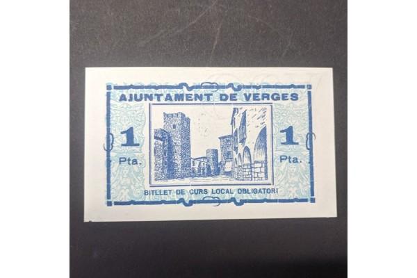 España - Lote de billetes locales de Verges de 1937