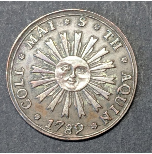 Medalla Proclamación 1789 - COLEGIO DE SANTO TOMAS