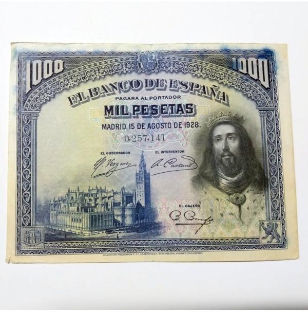 España - 1000 Pesetas 1928 - San Fernando Sin Serie