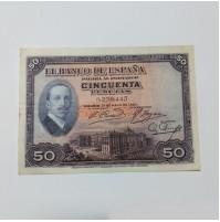 España - Billete de 50 pesetas  de 1927 Sin Serie Alfonso XIII