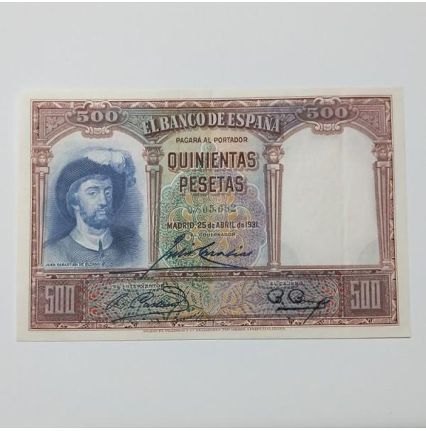 España - 500 Pesetas 1931 (Juan Sebastián Elcano) Sin Serie