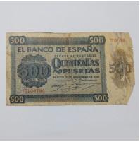 España - Billete de 500 pesetas de Burgos de 1936