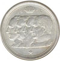 Bélgica - 100 francos, 1948-1954 Plata
