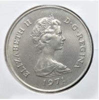 Gibraltar - 25 Nuevos Peniques de 1971