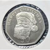 Gibraltar - 50 Peniques Serie Navidad