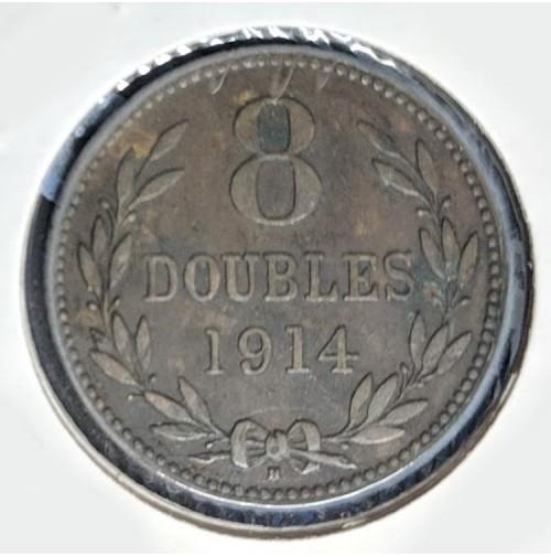 Guernesey (Reino Unido) - 8 Doubles de 1914 H